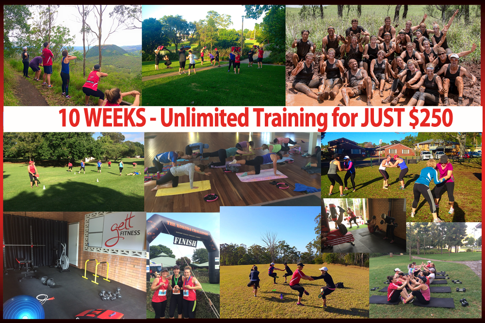 50% OFF - 10 WEEKS UNLIMITED TRAINING with GETT Fitness